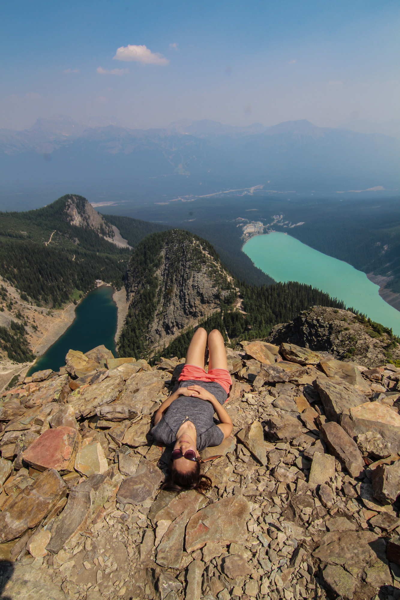 Big Bee Hive and Devil's thumb is one of the best Banff hikes.