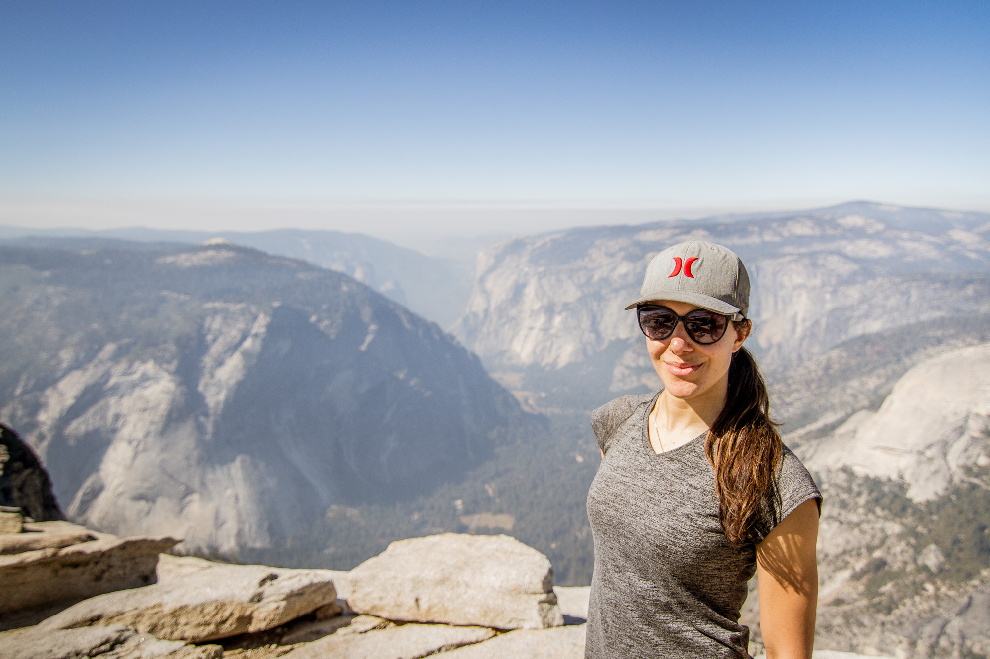 Amy at the Half Dome Summit, Yosemite National Park