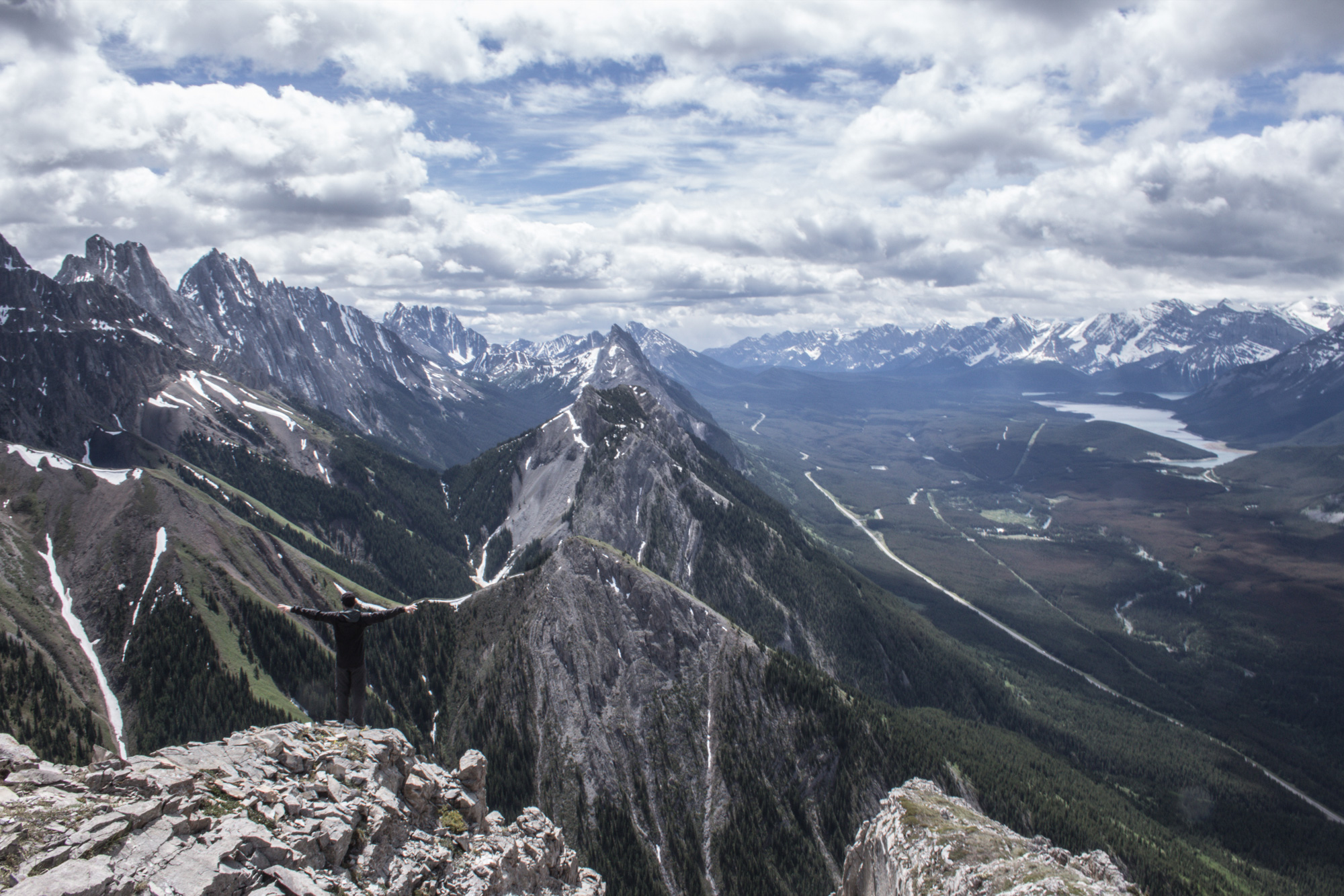 Cal on top of Grizzly Peak, Kananaskis Country