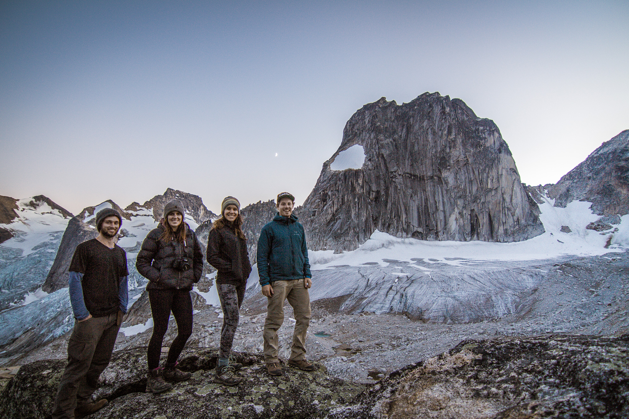 Housemate meeting in the Bugaboos Provincial Park