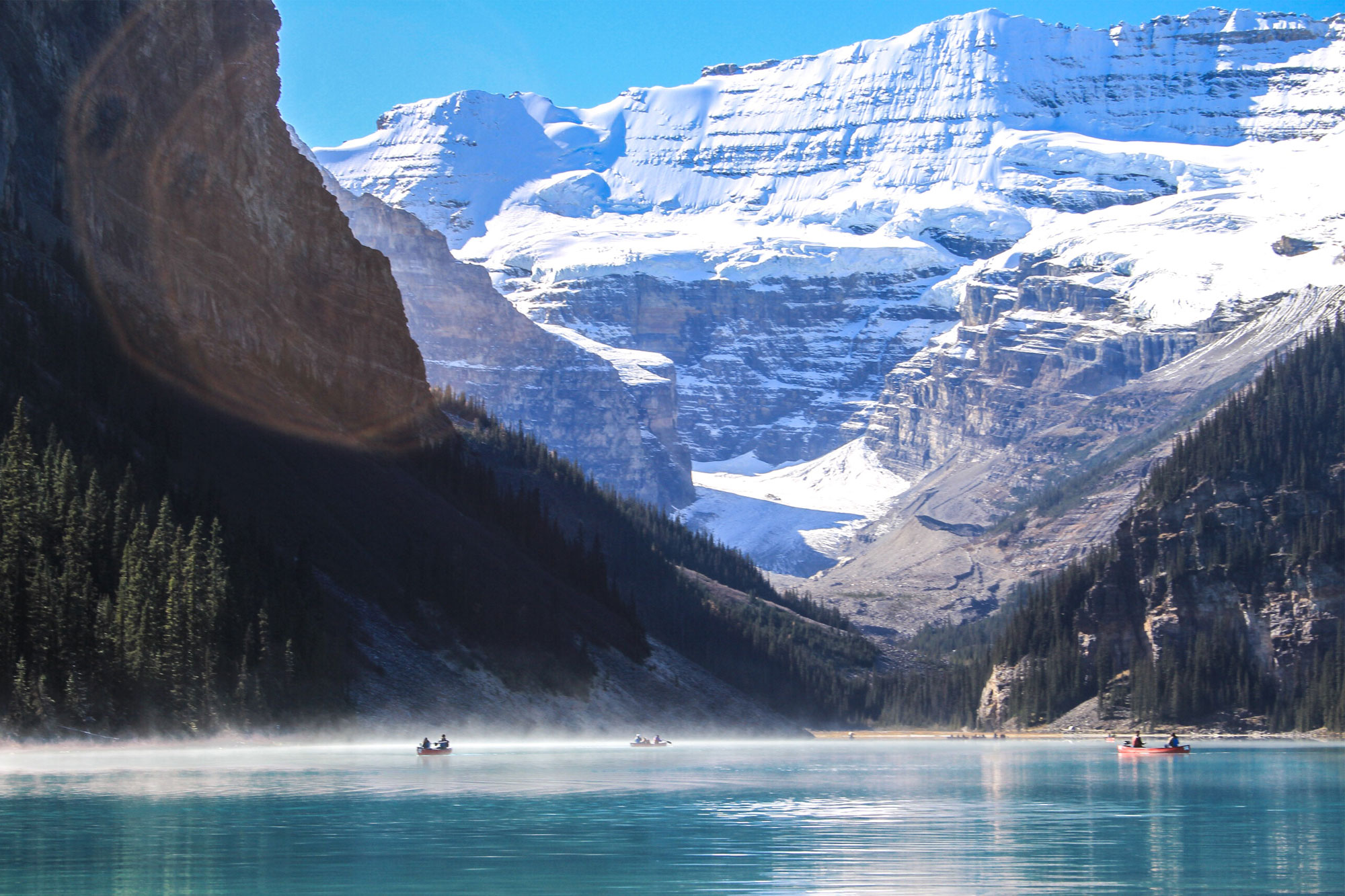 Lake-Louise in the morning is one of the top things to do in Banff