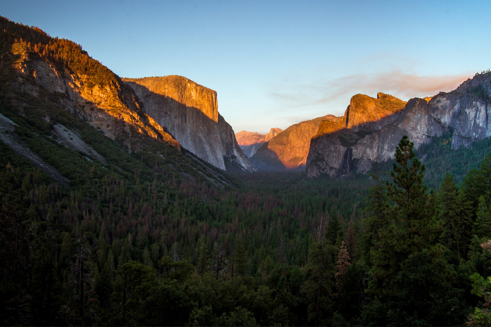 Winner of our Most beautiful US national parks; Yosemite National Park
