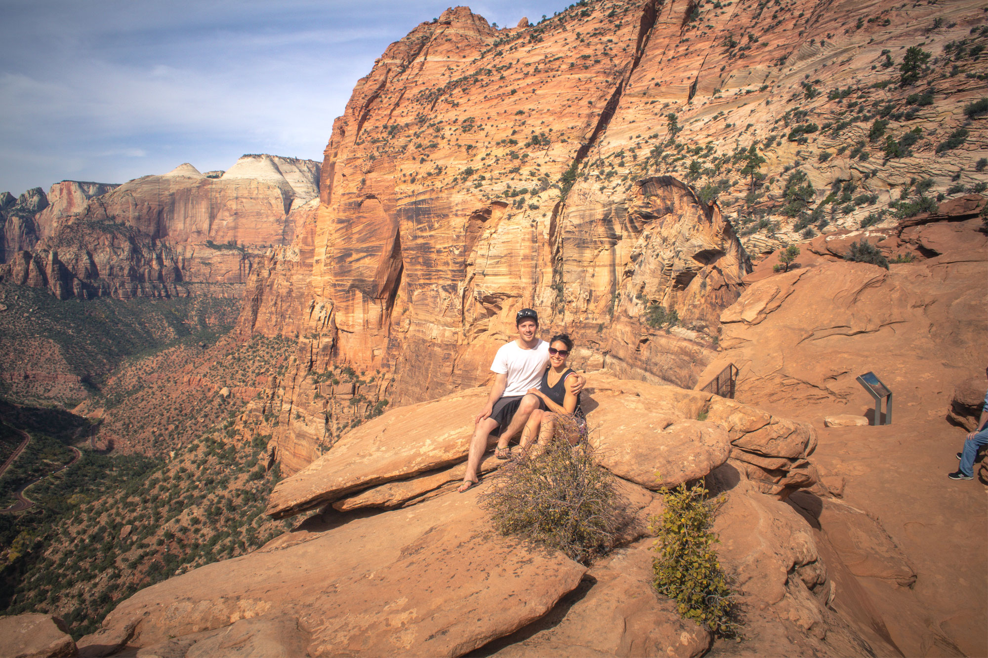 Amy and Cal Zion National Park Canyon Overlook