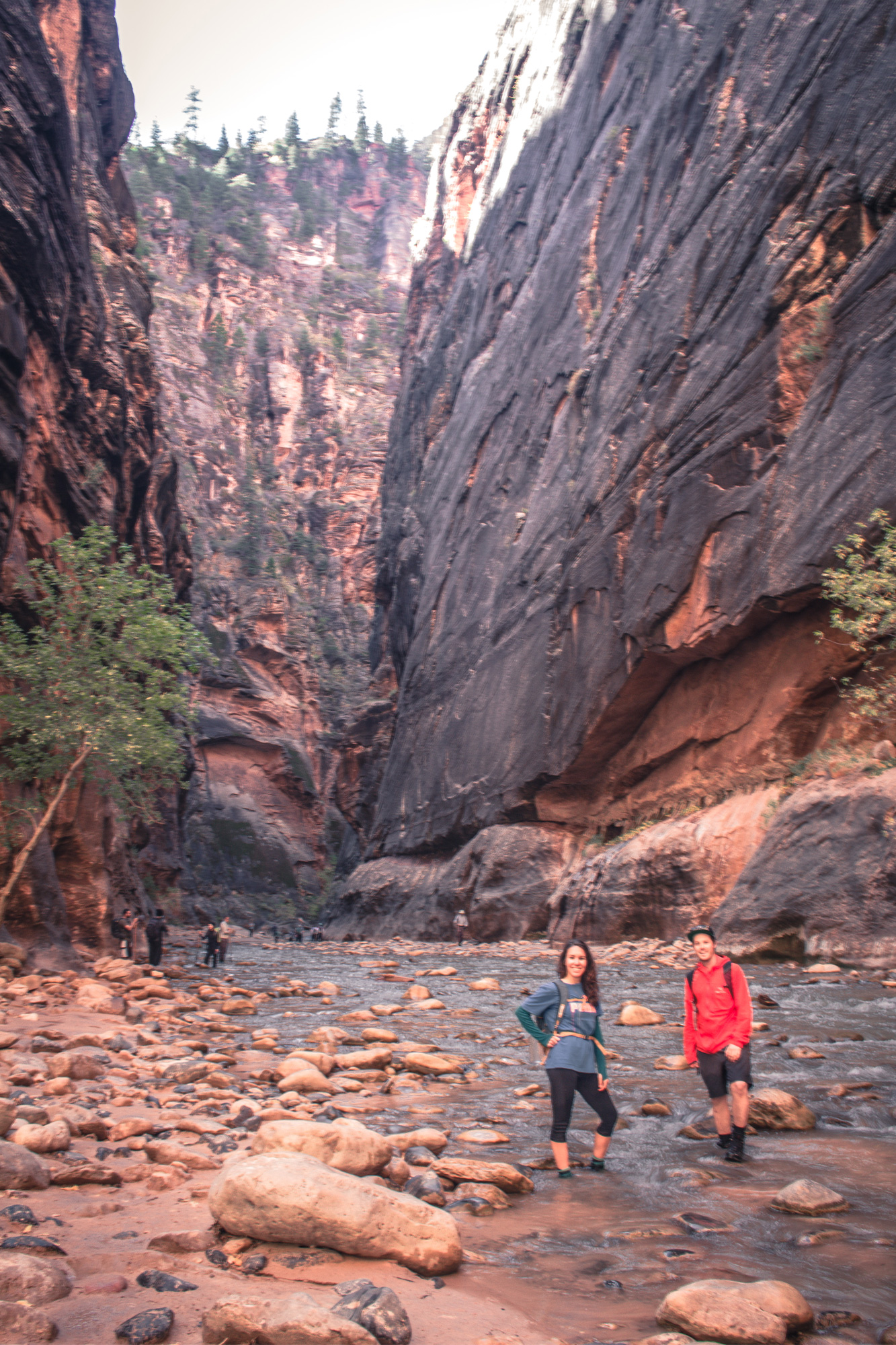 Amy and Cal in The Narrows Zion National Park