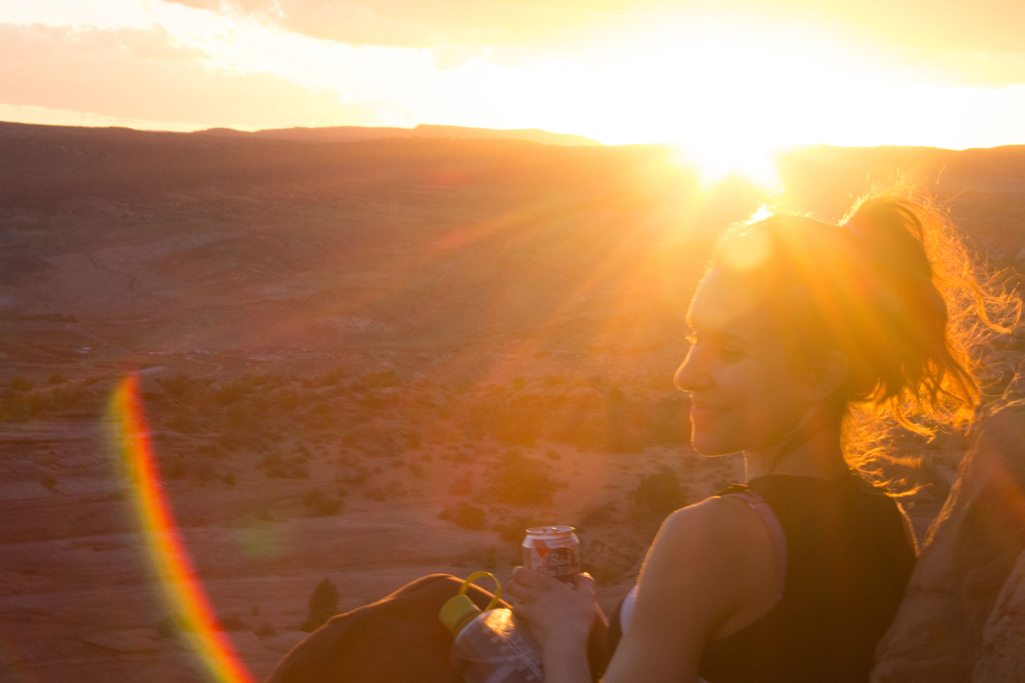Amy at Delicate Arch, Arches National Park