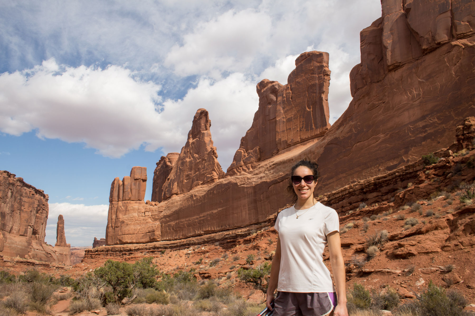 Amy at Park Avenue, Arches National Park