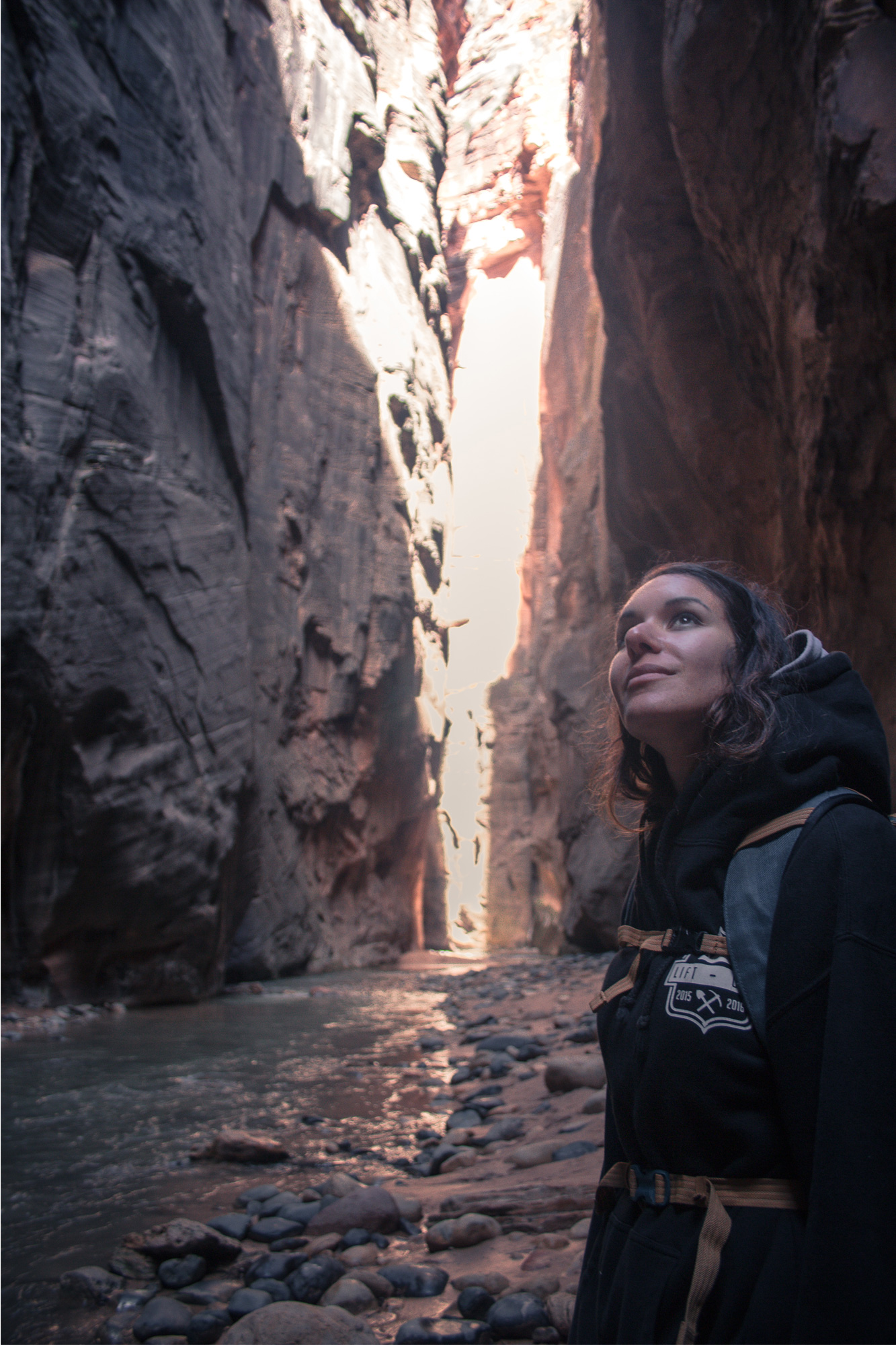 The Narrows, Zion. One of the Most beautiful US national parks