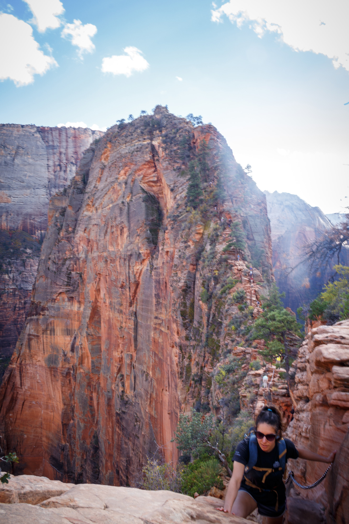 Amy near Angels Landing Zion National Park
