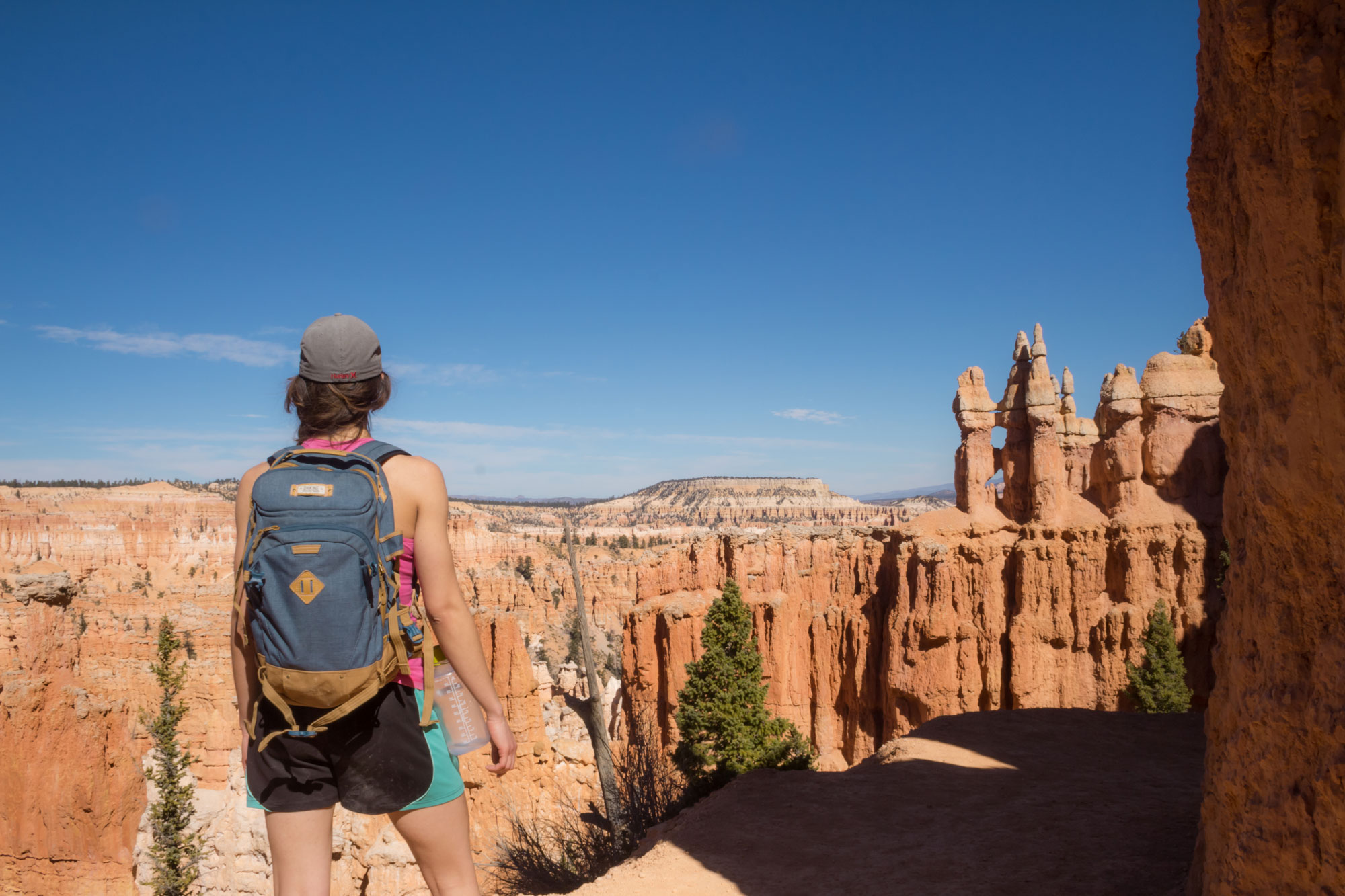 Amy-near-the-end-of-Queen's-Garden-Loop,-Bryce-Canyon-National-Park