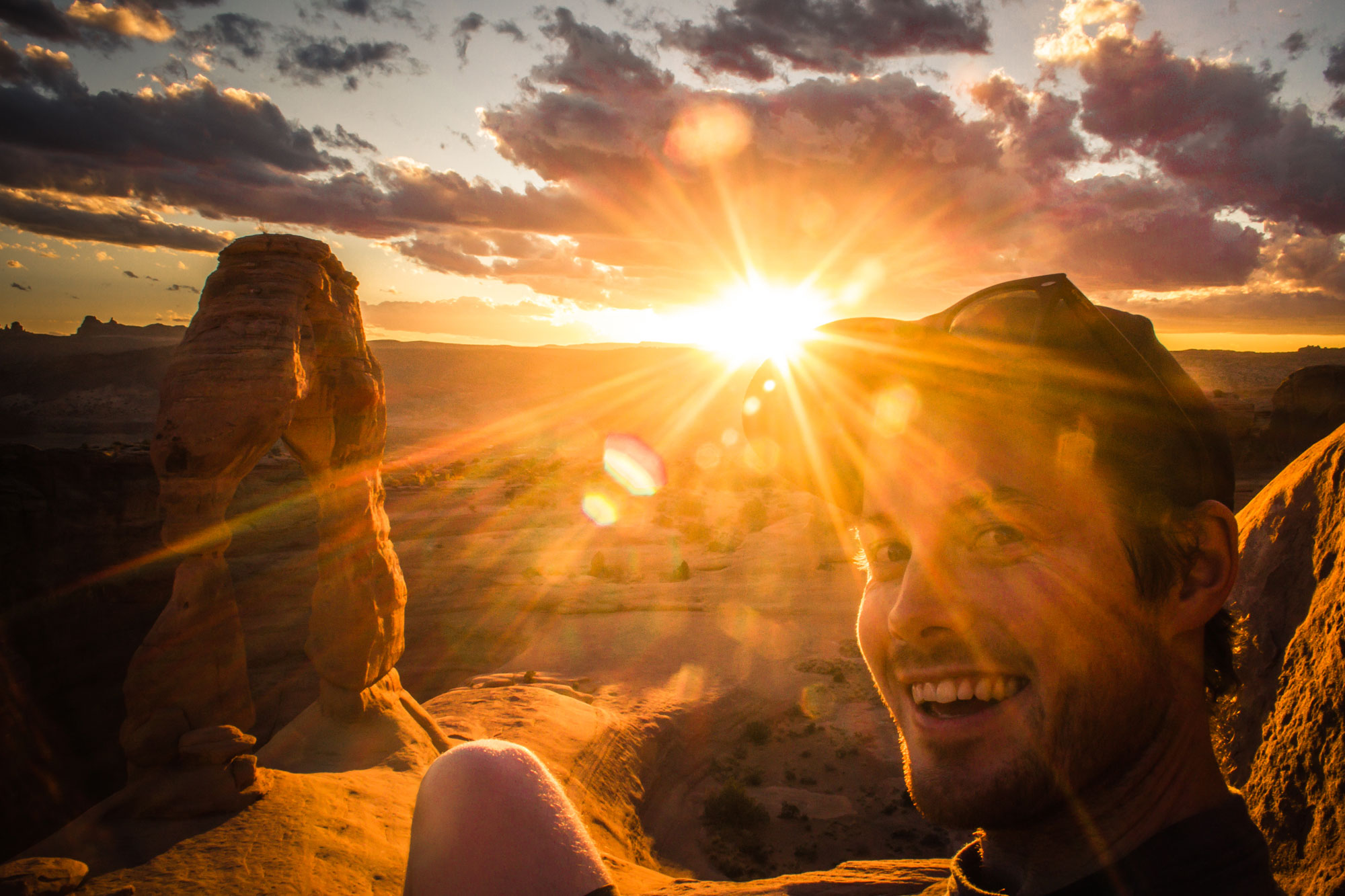 Cal Sunset at Delicate Arch, Arches National Park