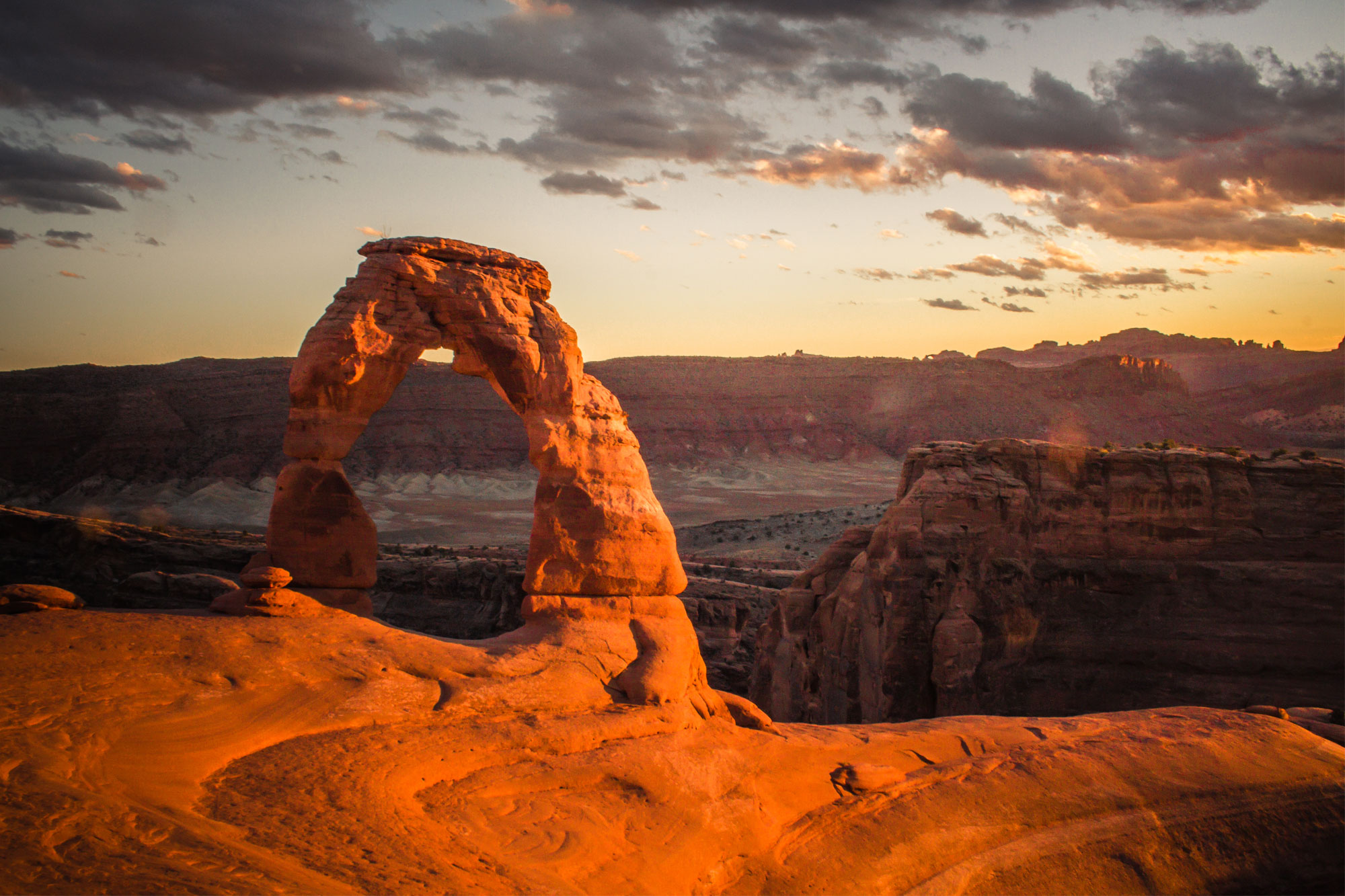 Delicate Arch Orange Glow, Arches National Park