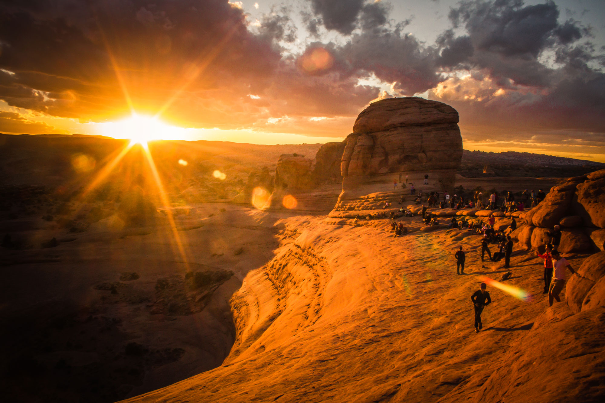 The Crowd at Delicate Arch, Arches National Park